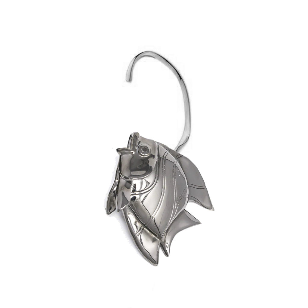 Earring Fish Love Gun Metal SCH 467-2-left