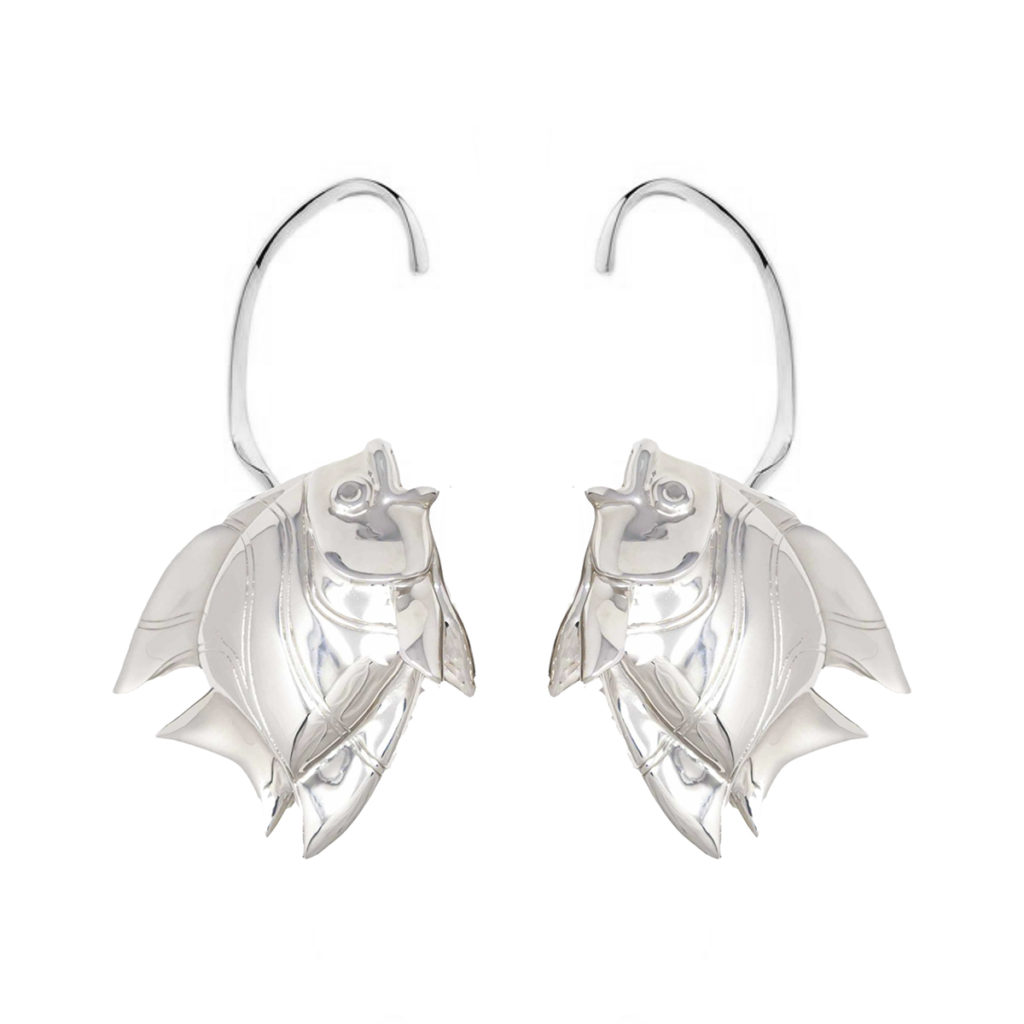 Earring Fish Love Silver SCH 467-1
