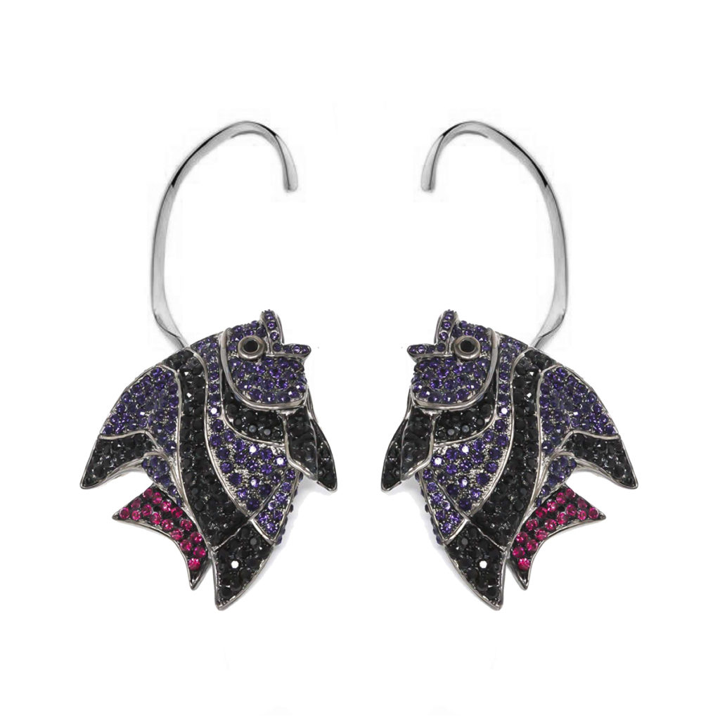 Earring Fish Love Violet SCH 452-1
