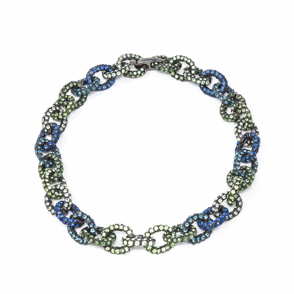 Necklace Chain for Love Green Blue SCH 456-2
