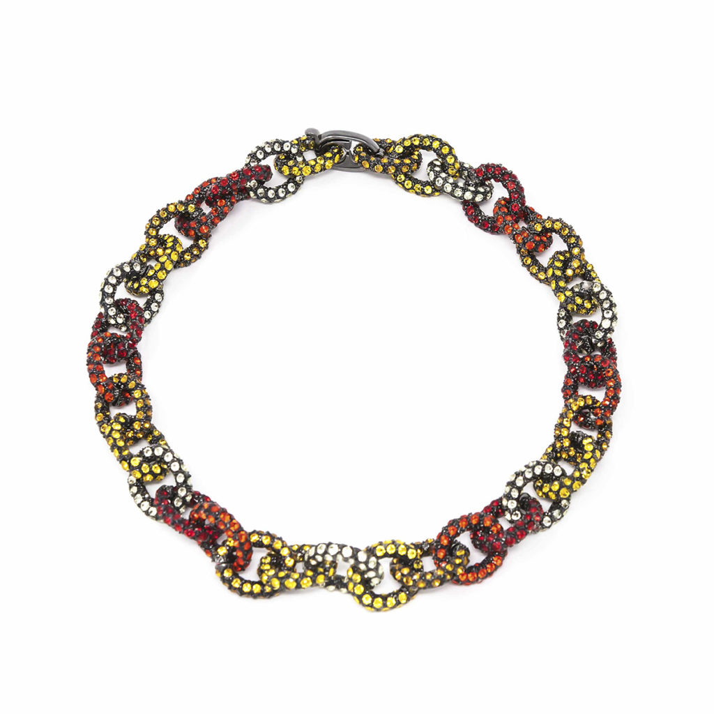 Necklace Chain for Love Yellow Red SCH 456-1