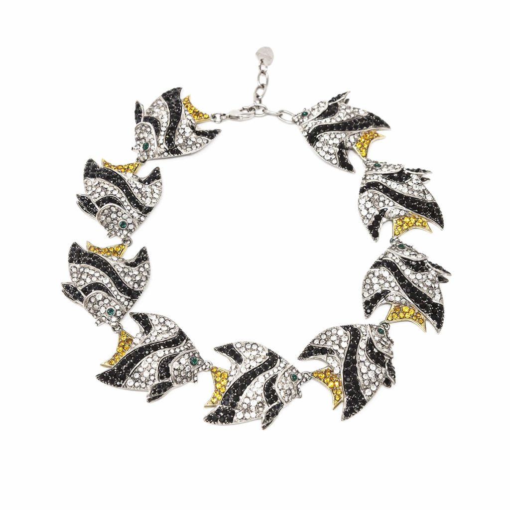 Necklace Fish Love Black and White SCH 453-2