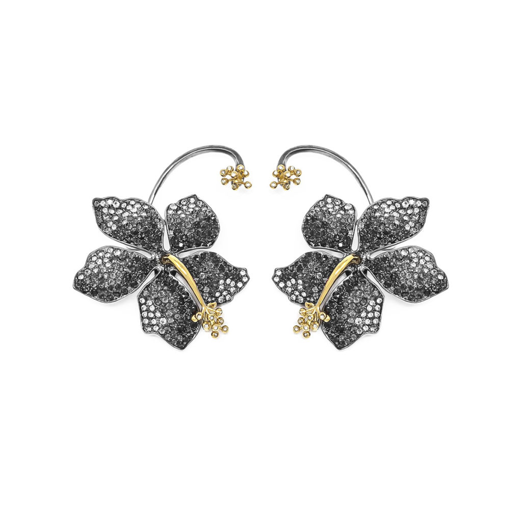 Earring Guillermina Black Diamond - SCH 455-3