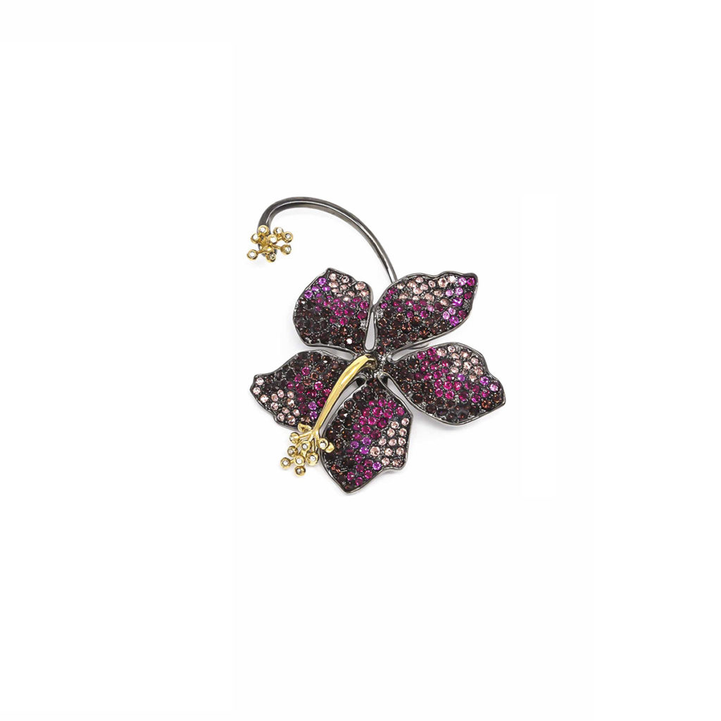 Earring Guillermina Burgundy - SCH 455-1-left