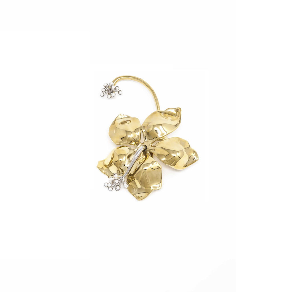 Earring Guillermina Flower Gold - SCH 457-1-left