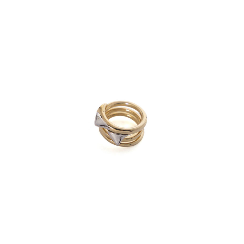 RING THORN GOLD AND SILVER